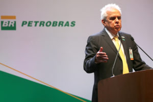 Roberto Castello Branco, the new CEO of Brazil's state-run oil company Petrobras, delivers a speech at a ceremony marking his taking over the firm, in Rio de Janeiro, Brazil January 3, 2019. REUTERS/Sergio Moraes